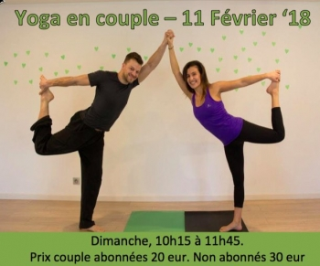 Yoga en couple - 11 fev / 10h15-11h45