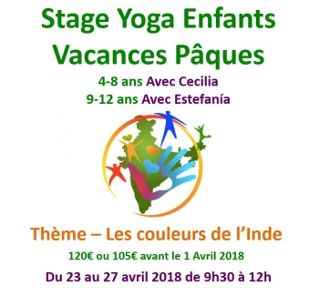 Yoga enfants du 23 au 27 avril