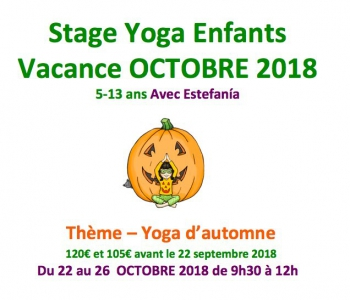 Stage Enfants en octobre